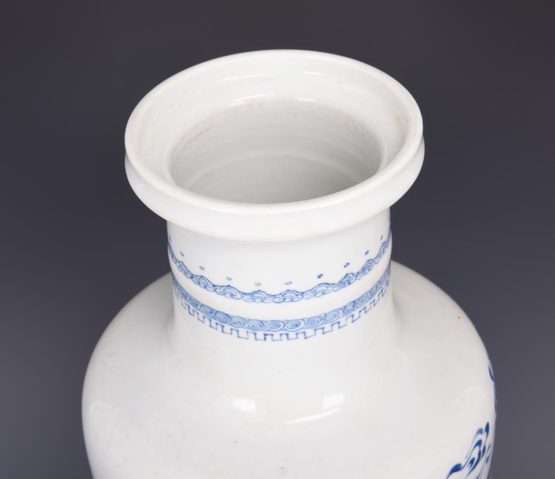 Large Blue and White Porcelain Vase - 7