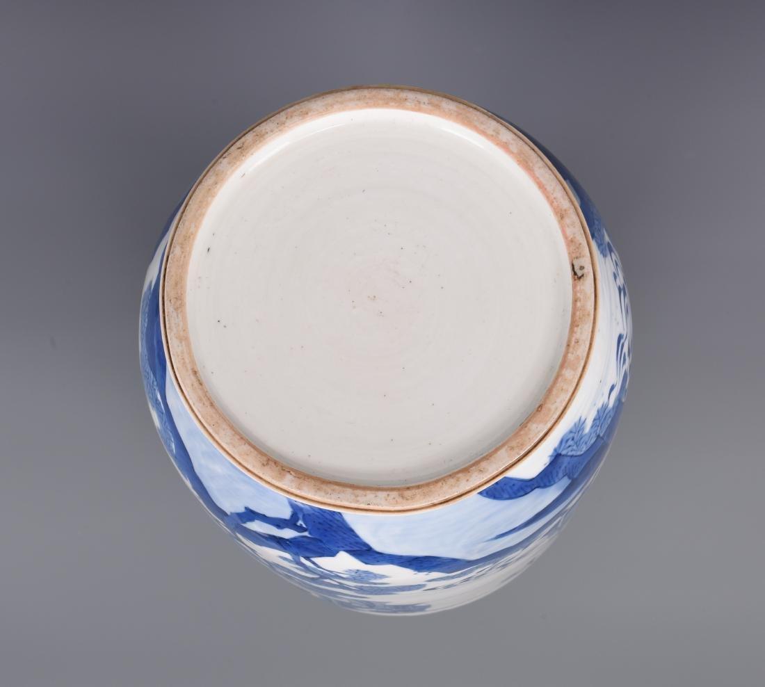 Large Blue and White Porcelain Vase - 9