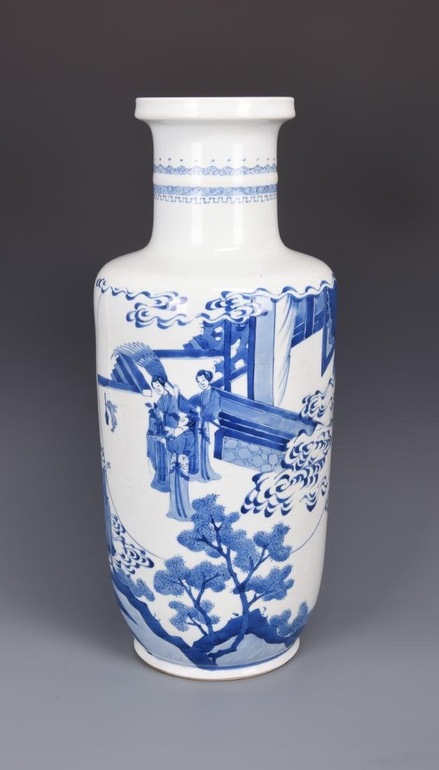 Large Blue and White Porcelain Vase - 3