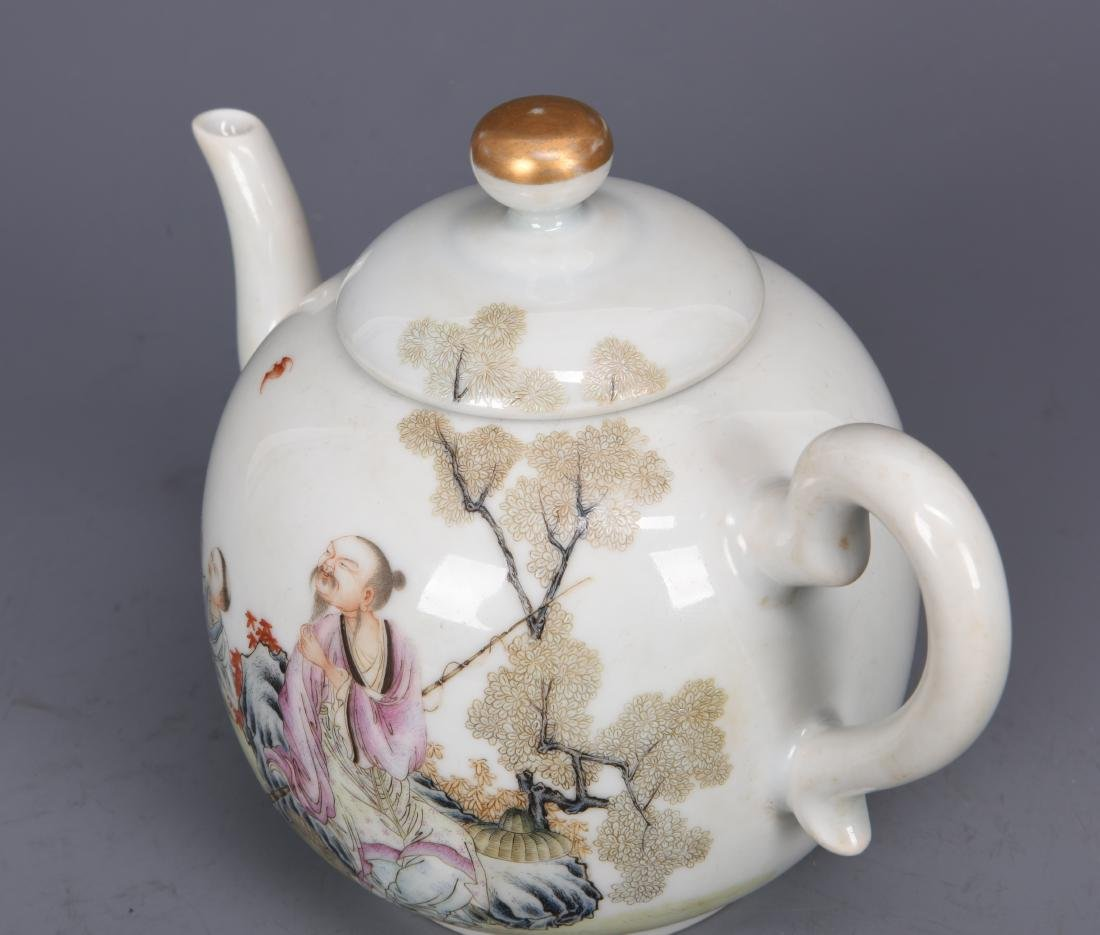 Porcelain Tea Pot with Mark - 3