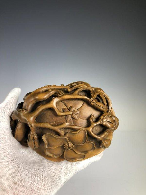 Box Wood Lotus Petal Washer with beast - 6