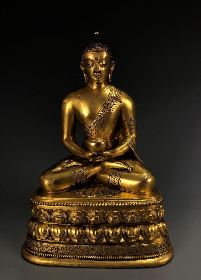 Gilt Bronze Figur of Amitabha