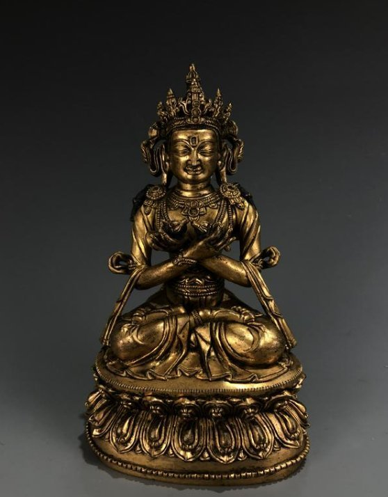 Gilt Bronze Figure of Vairocana