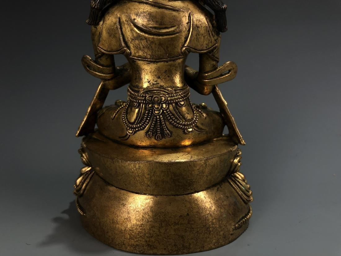 Gilt Bronze Figure of Vairocana - 5