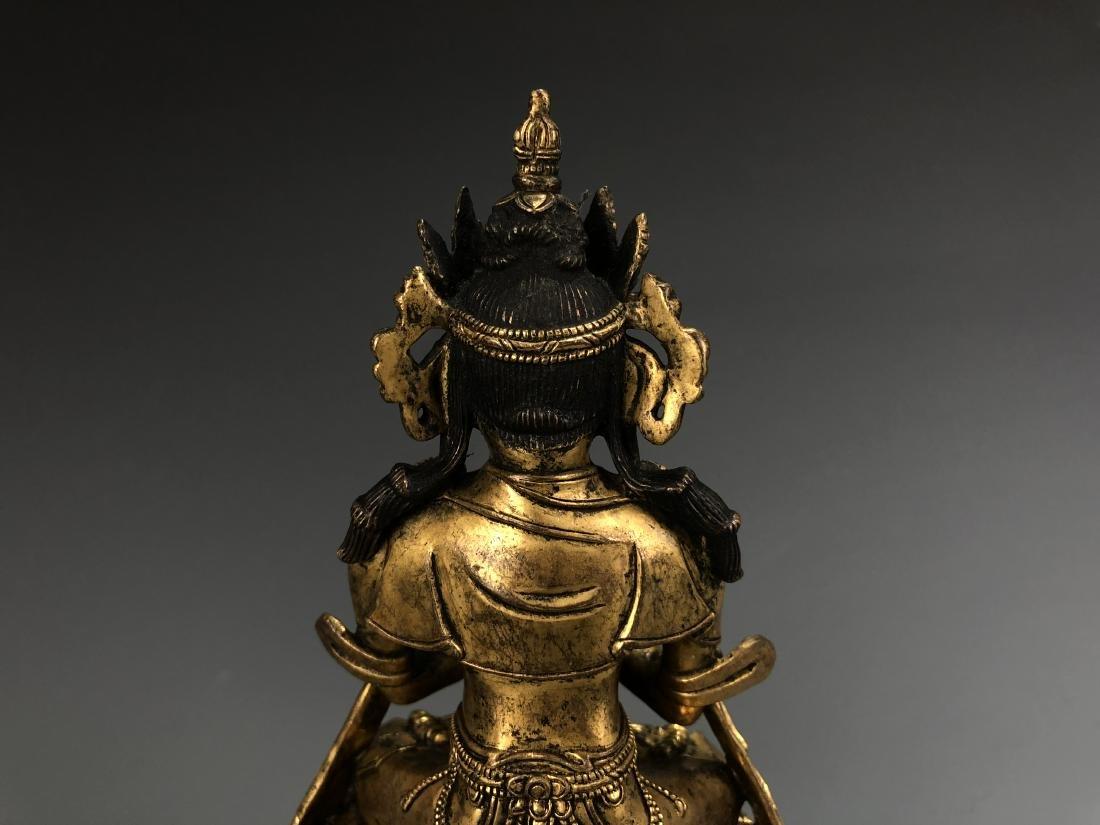 Gilt Bronze Figure of Vairocana - 6