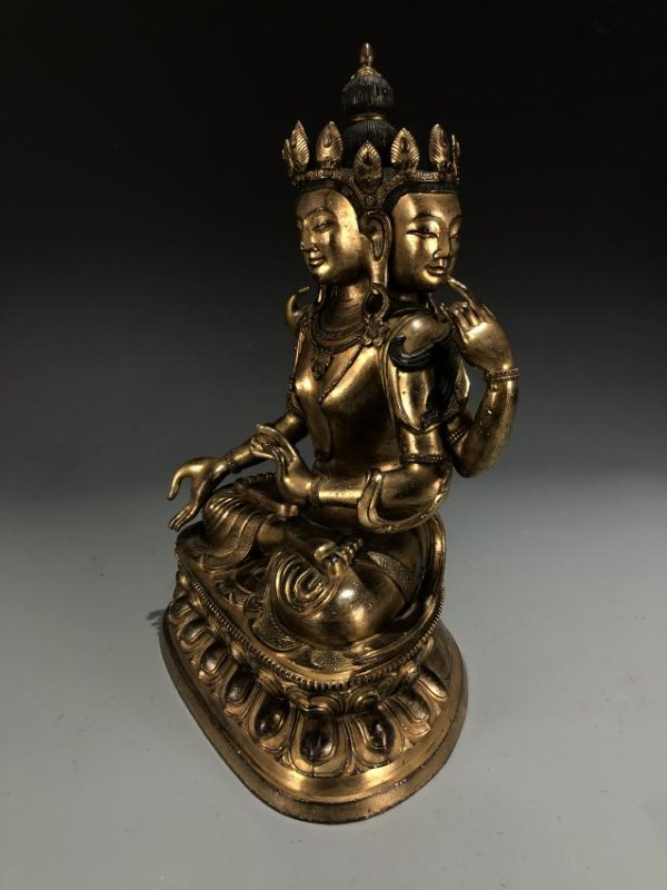 Gilt Bronze Figure of Marici - 12
