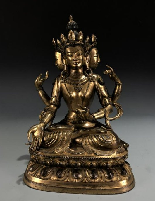 Gilt Bronze Figure of Marici