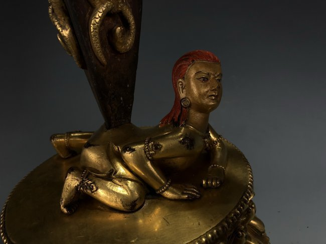 Gilt Bronze Vajvalilaka on Double Lotus Base - 2