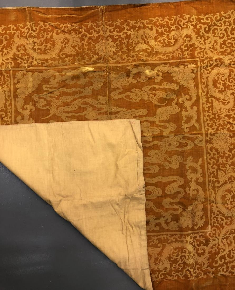 Yellow Silk and Velvet Panel with Mark - 4