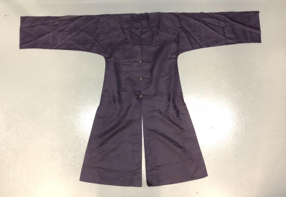 Royal Blue Silk Robe - 2