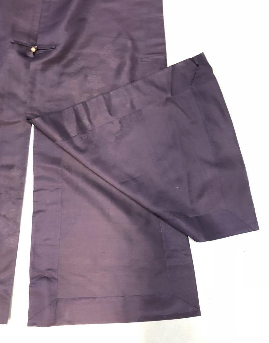 Royal Blue Silk Robe - 4