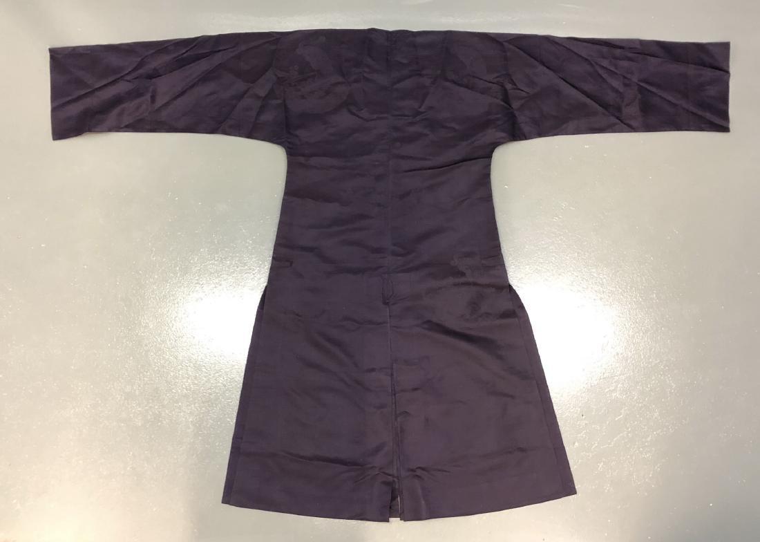 Royal Blue Silk Robe - 5