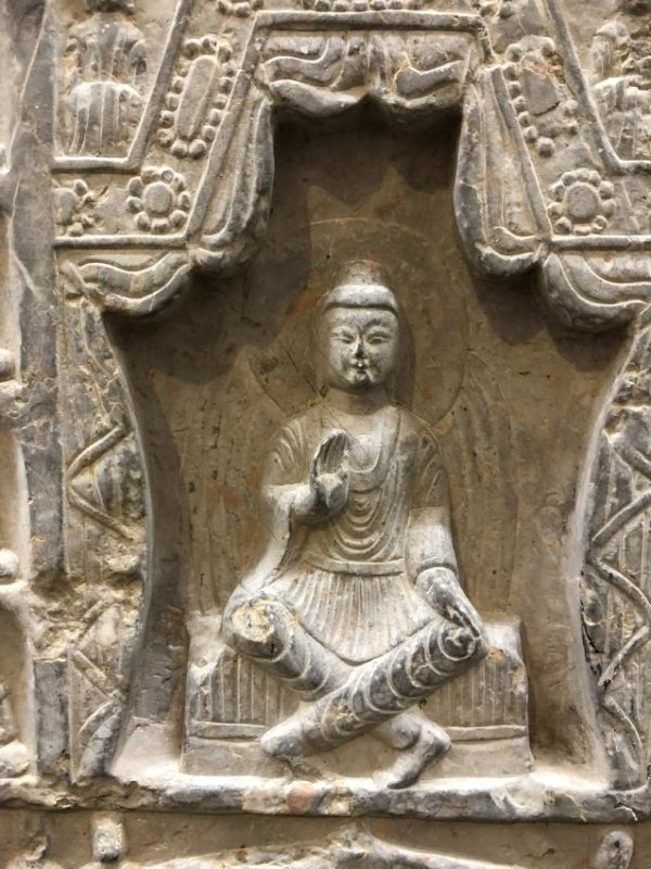 Marble Carving of Buddhas in Stele - 5