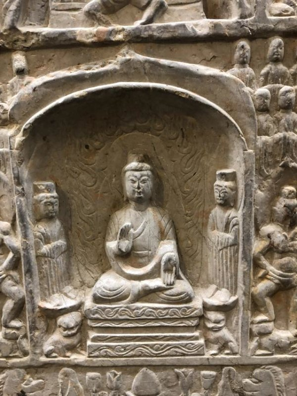 Marble Carving of Buddhas in Stele - 8