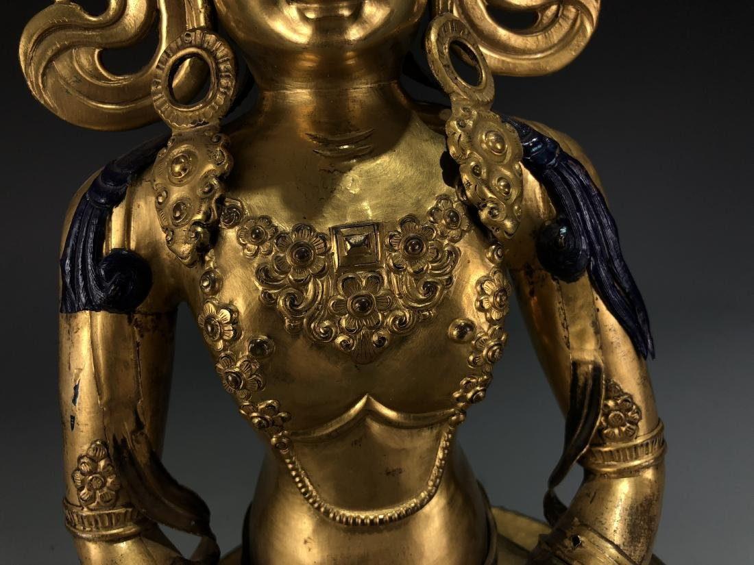 Gilt Bronze Figur of Avalokitesvara - 3