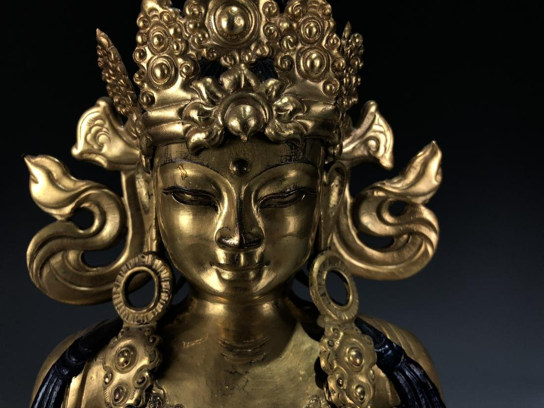 Gilt Bronze Figur of Avalokitesvara - 4
