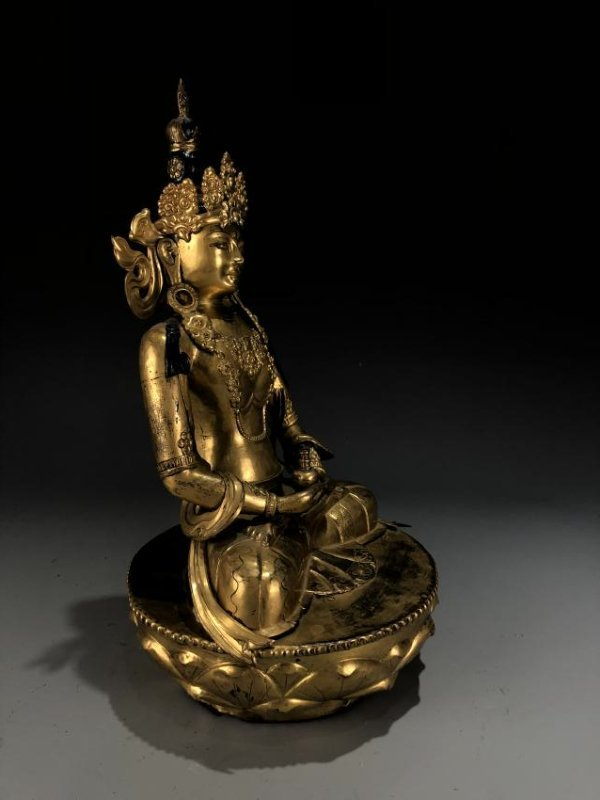Gilt Bronze Figur of Avalokitesvara - 6