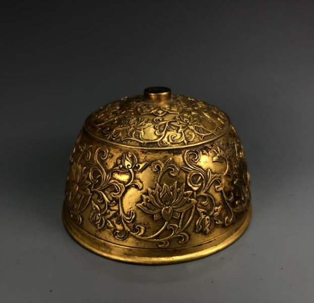 Gilt Bronze Bee Hive with mark