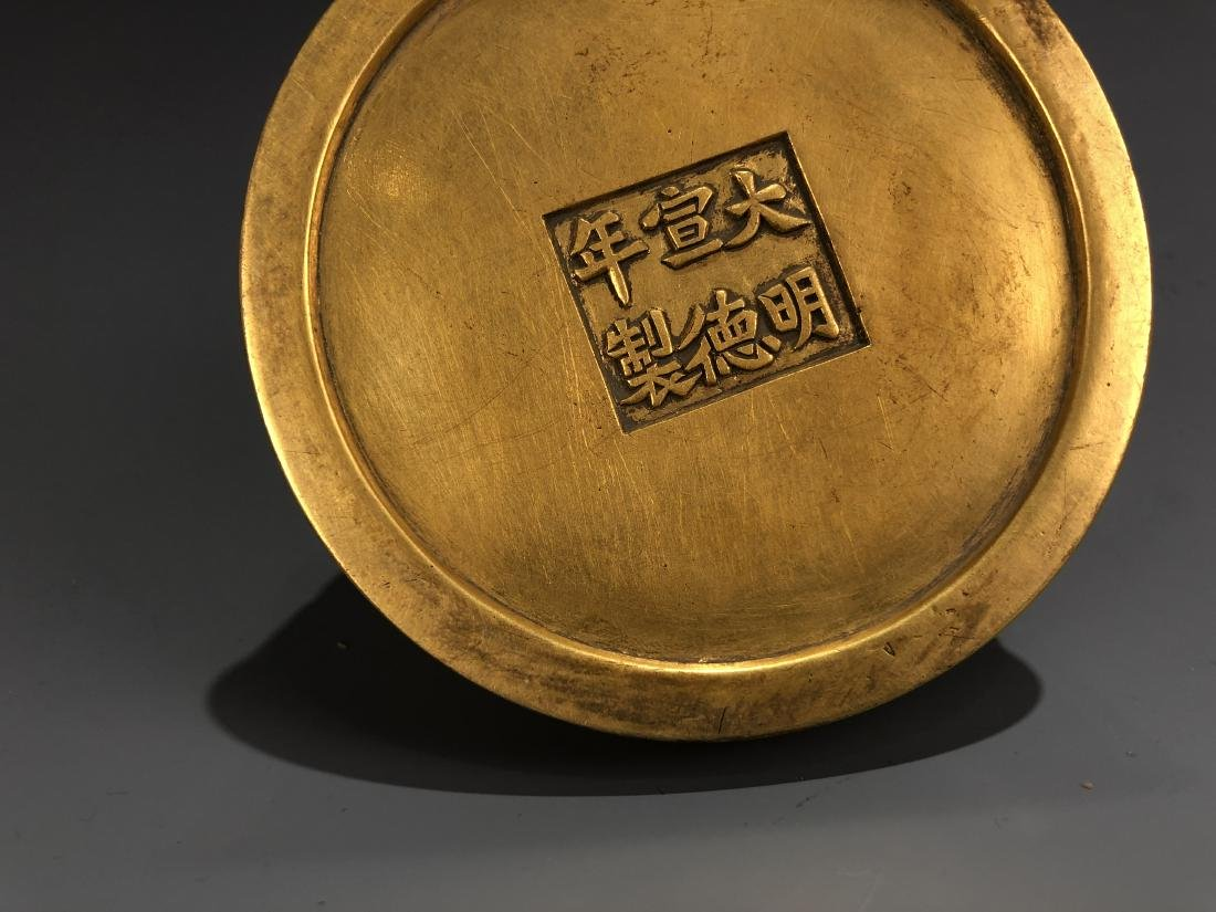 Gilt Bronze Bee Hive with Xuande Mark - 4