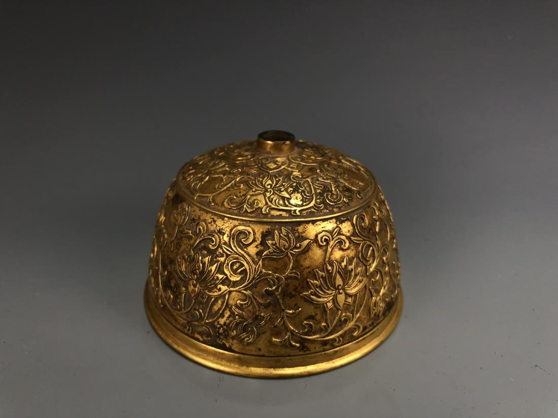 Gilt Bronze Bee Hive with Xuande Mark - 6