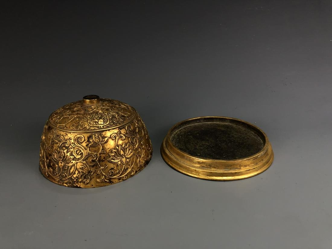 Gilt Bronze Bee Hive with Xuande Mark - 8