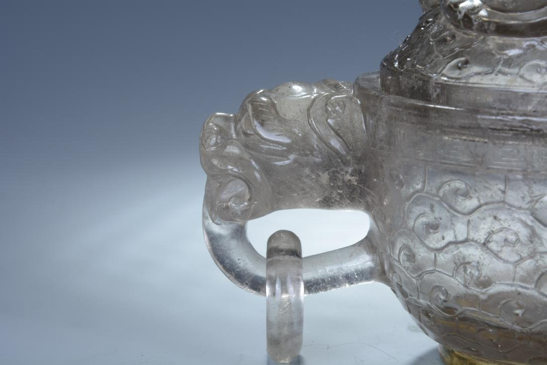 Rock Crystal Dragon Bowl with Cover - 3