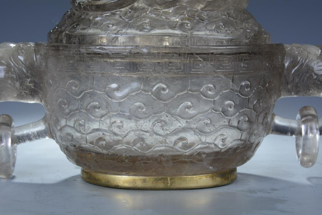 Rock Crystal Dragon Bowl with Cover - 4
