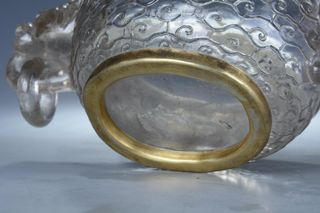 Rock Crystal Dragon Bowl with Cover - 8