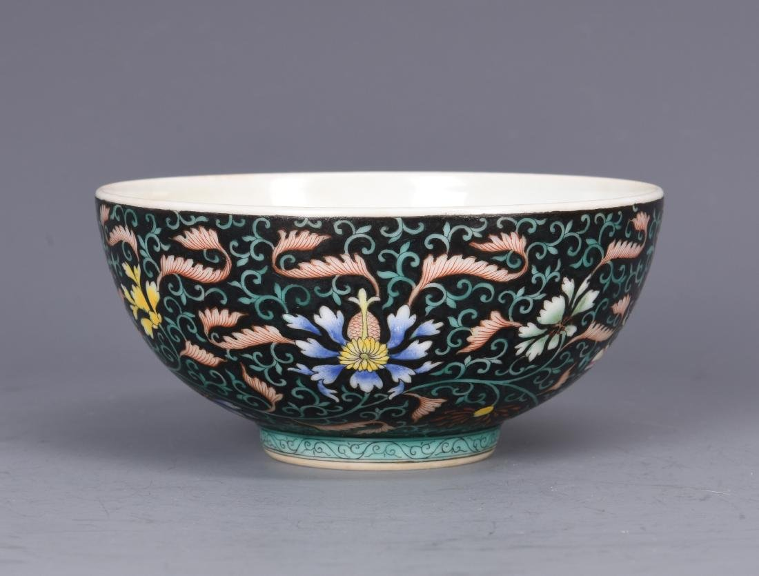 Famille Rose Porcelain  Bowl  with Mark