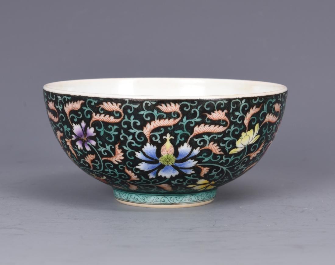 Famille Rose Porcelain  Bowl  with Mark - 4