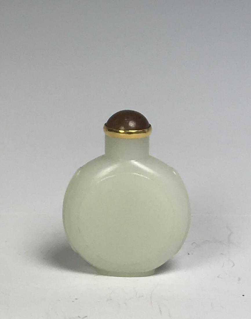 White Jade Snuff Bottle - 4