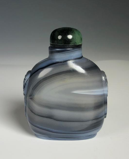 Blue Agate Snuff Bottle