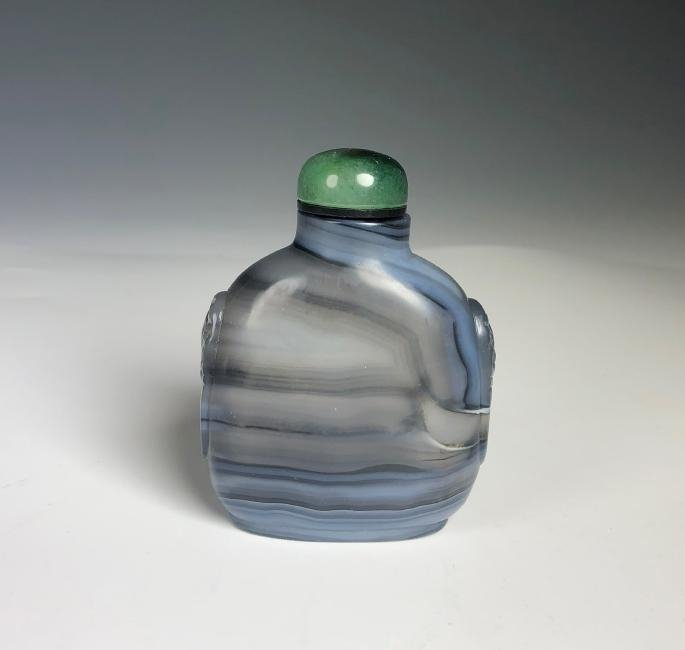 Blue Agate Snuff Bottle - 2