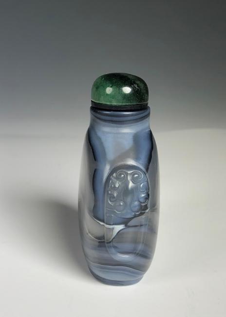 Blue Agate Snuff Bottle - 4