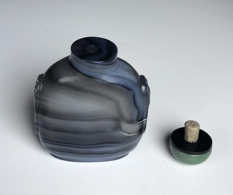 Blue Agate Snuff Bottle - 6