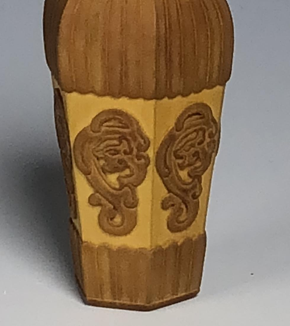 Carved Bamboo Snuff Bottle - 3