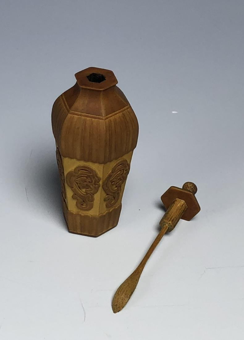 Carved Bamboo Snuff Bottle - 4