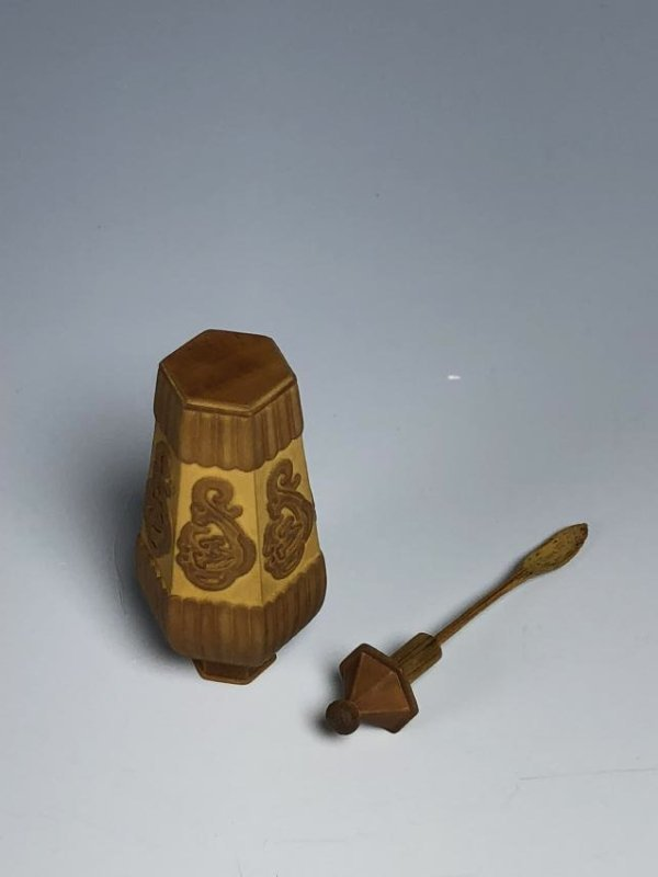 Carved Bamboo Snuff Bottle - 5