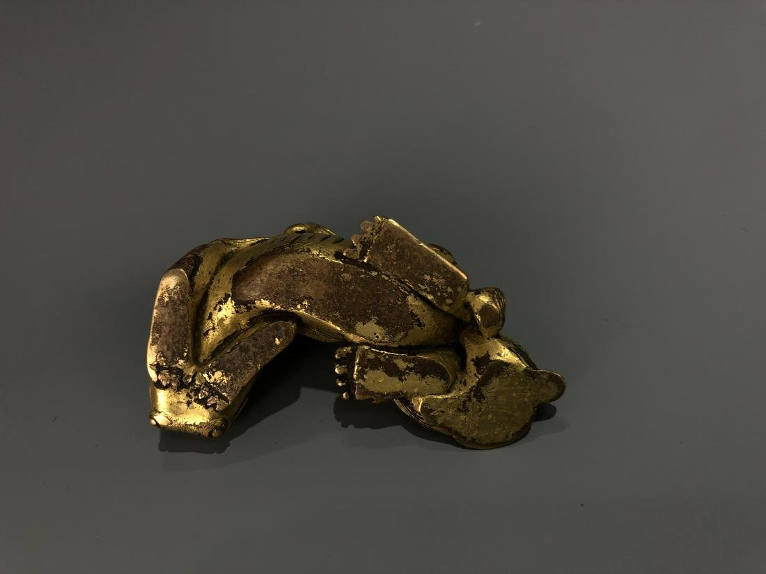 Gilt Bronze Lion Paper Weight - 2