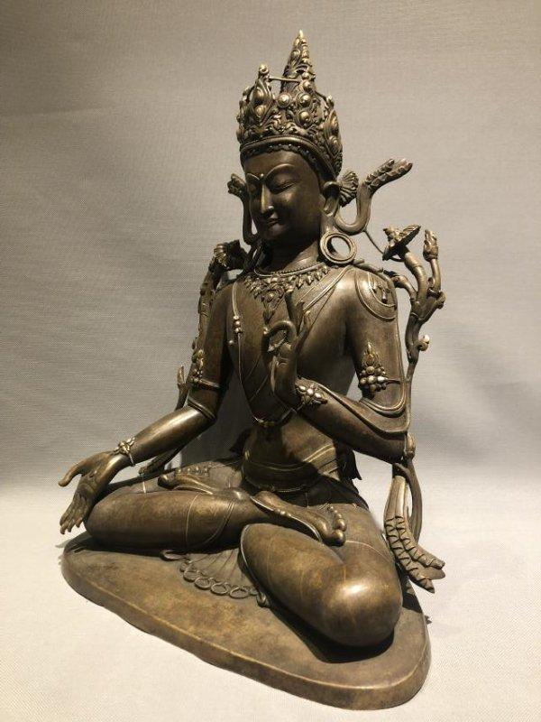 Large Bronze Figure of GUANYIN - 2