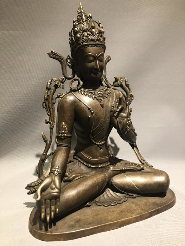 Large Bronze Figure of GUANYIN - 3