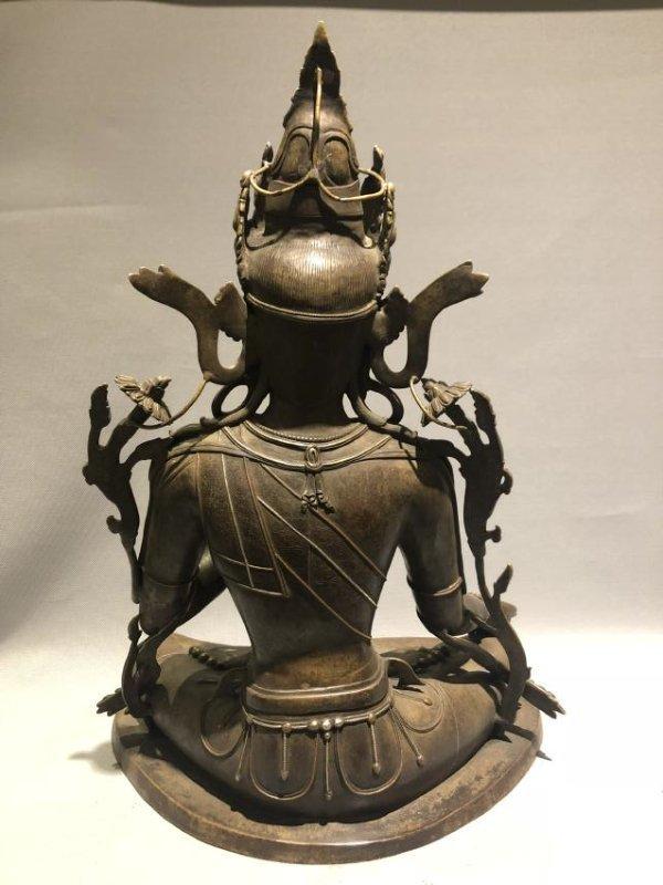 Large Bronze Figure of GUANYIN - 4