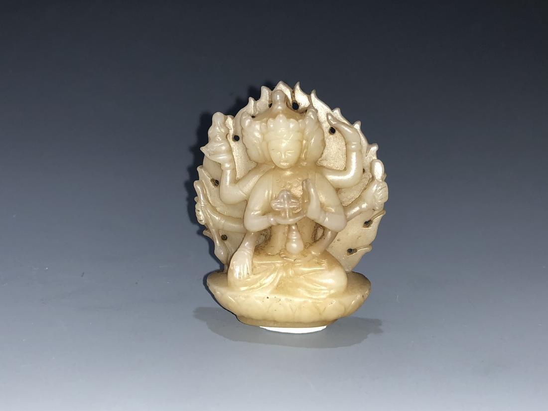 Carved Jade Figure of Tara - 5