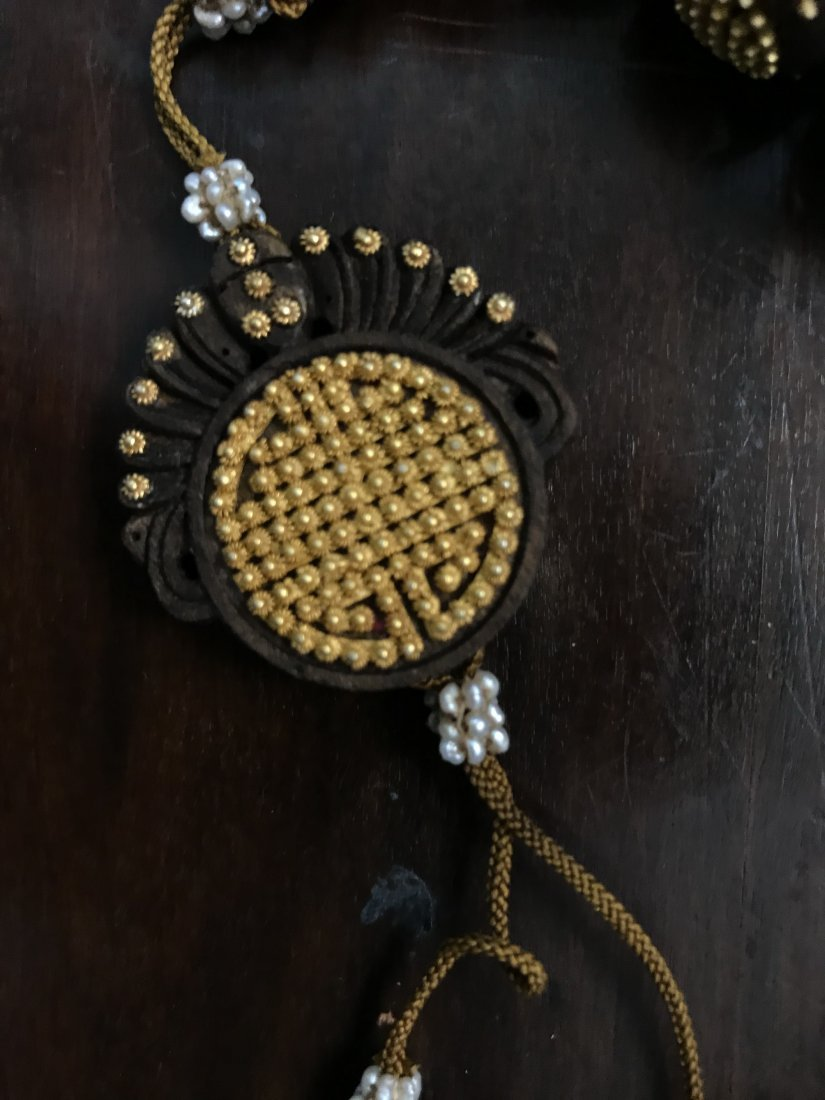 AgarWood Prayer Beads With Small Gold Beads In Box - 7