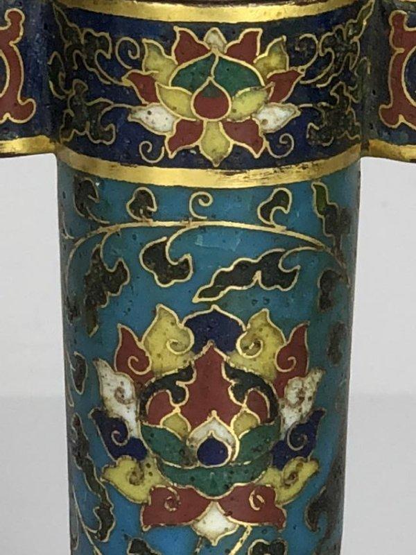 Cloisonne Enamel Arrow Vase - 4