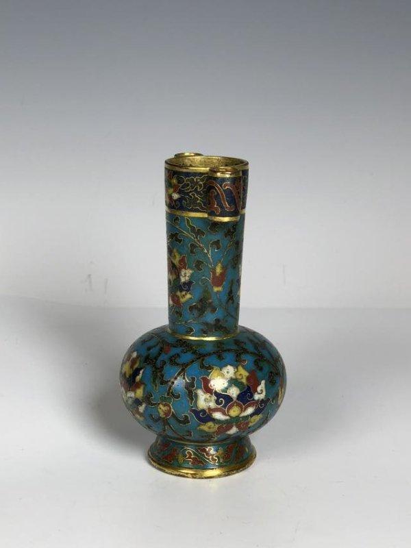 Cloisonne Enamel Arrow Vase - 6