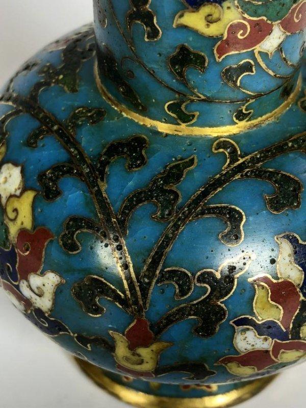 Cloisonne Enamel Arrow Vase - 9
