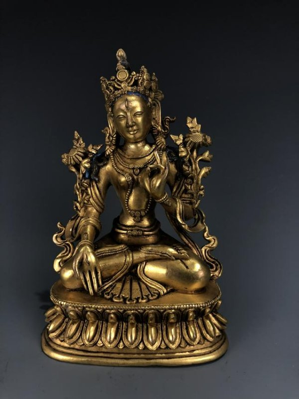 Gilt Bronze Figure of GuanYin