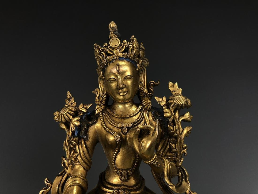 Gilt Bronze Figure of A Tara - 2