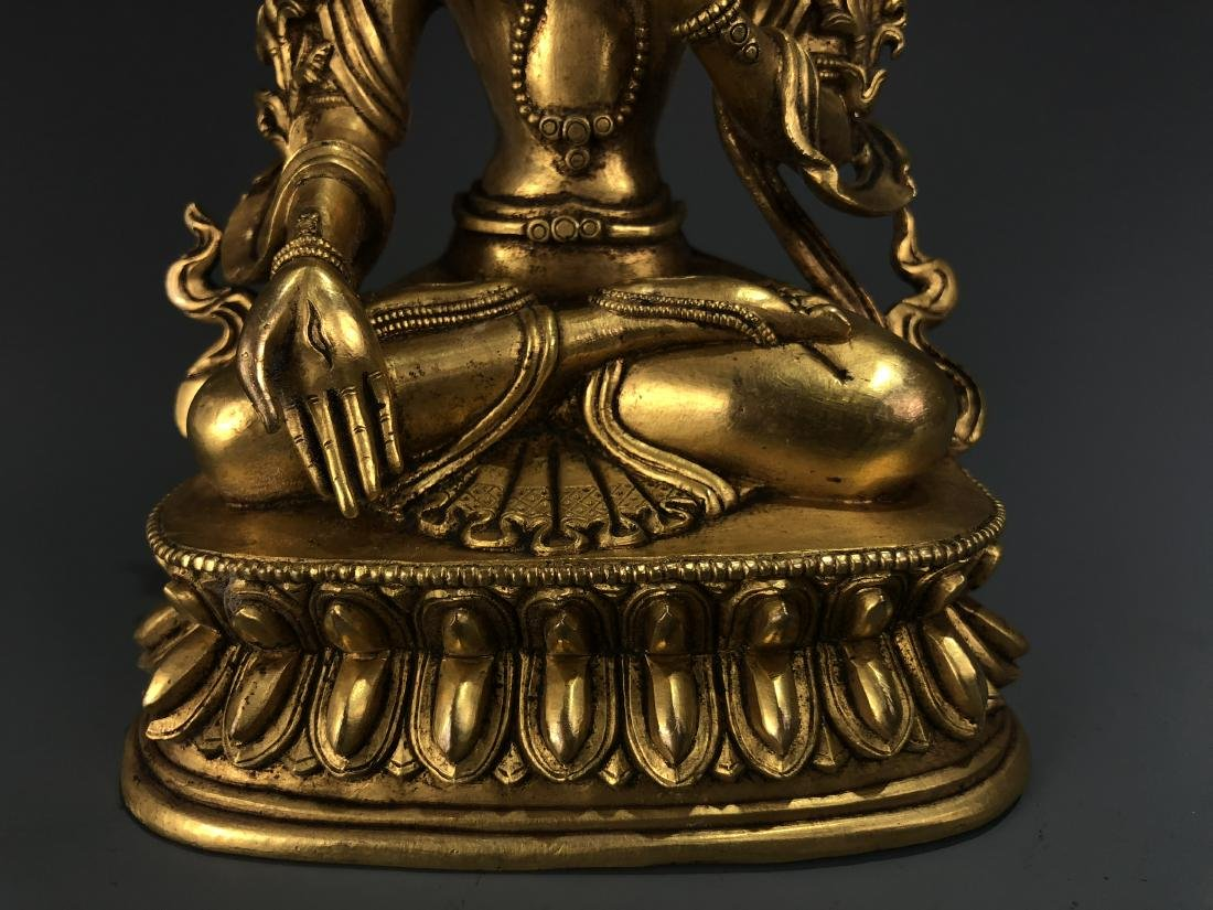 Gilt Bronze Figure of A Tara - 3